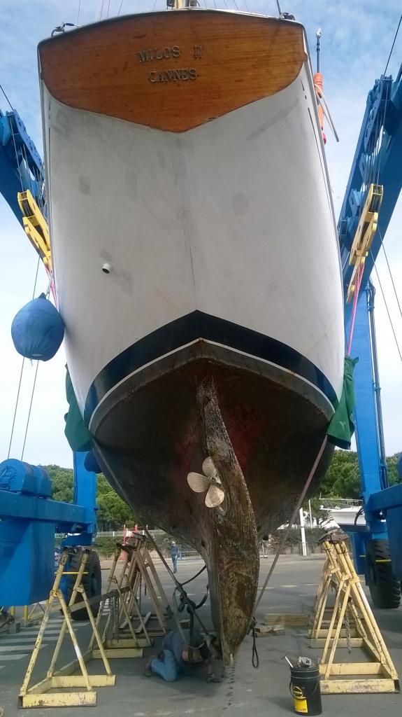 calage du bateau