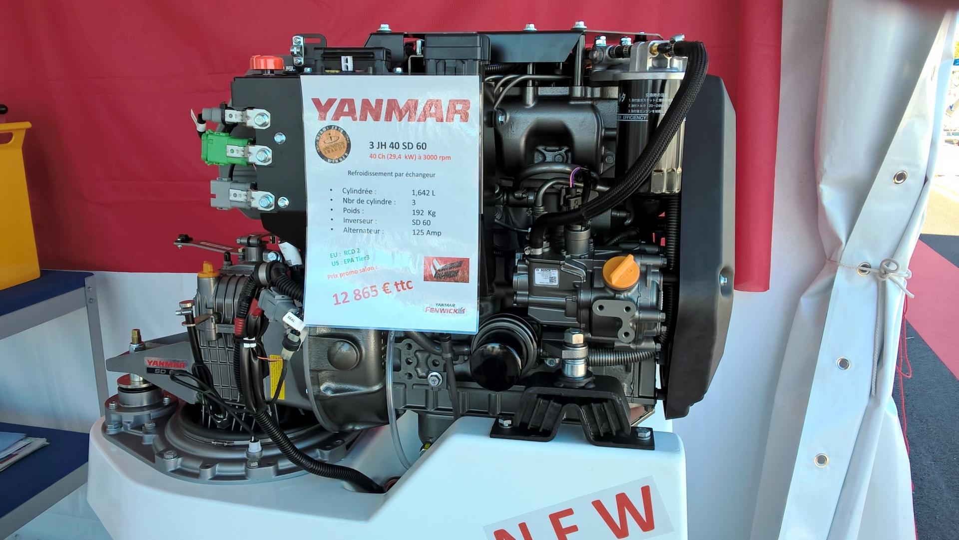Nouveau moteur Yanmar 3JH 40
